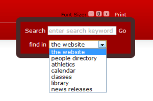 PSU's unified search