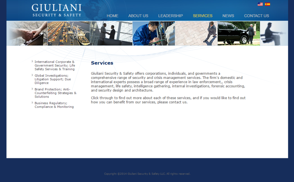 Giuliani Security's services